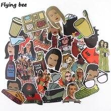 Flyingbee 35 pcs Orange Is New Black Sticker fashion PVC Stickers for DIY Luggage Laptop Skateboard Car X0351