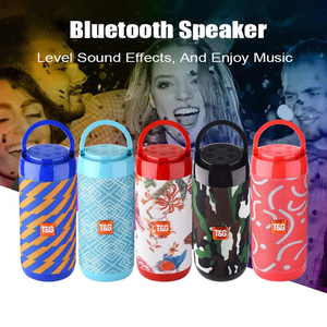 Image 5 - TG113C Bluetooth Speaker Portable Outdoor Loudspeaker Wireless Column With FM Radio Waterproof Subwoofer &Phone Holder 9 Colors