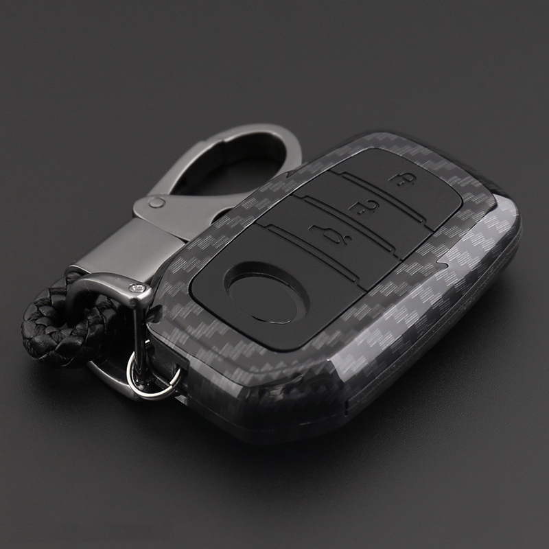2019 Anti-fall Carbon Fiber Silicone Car Key Cover Case For Toyota Hilux Fortuner Land Cruiser Camry Coralla Crown RAV4 Highland