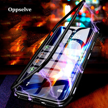 Oppselve Ultra Magnetic Adsorption Phone Case For Huawei Mate 20 Pro Lite P20 Coque Luxury Magnet Glass Capinhas