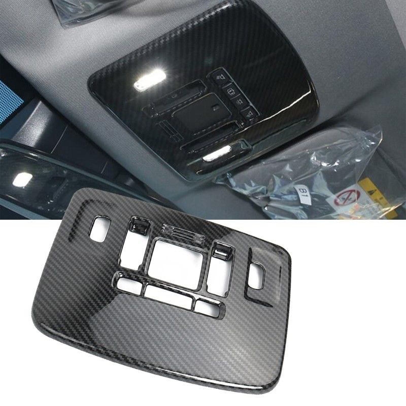 Carbon Fiber Front Reading Lamp Light Frame Cover Trim For Toyota Camry 2018