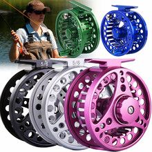 цена на Sougayilang Fly Fishing Reel 5 Color CNC Full Metal Aluminum 5/6WT Fly Fishing Reels Large Arbor Left/Right Coil Fishing Tackle