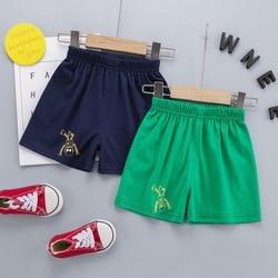 Шорты для маленьких мальчиков, модные хлопковые шорты с мультяшным роботом для мальчиков, хлопковые повседневные спортивные шорты, штаны д...