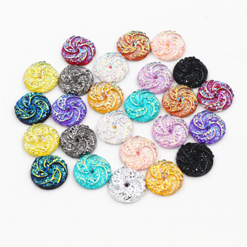 New Fashion 40pcs 12mm Mix Colors Windmill Style Flat back Resin Cabochon For Bracelet Earrings accessories 1