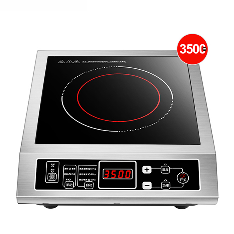 3500W Induction Cooker Commercial 3D Waterproof Electric Induction Cooktop Stainless Steel Induction Cooker Cooktop Household