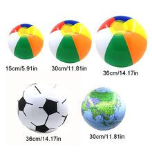 P15C 12Pcs/Pack Inflatable Beach Ball Pool Party Rainbow Ballsfor Kids Water Fun Play in Summer
