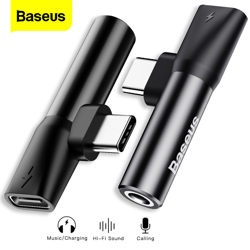 Baseus USB Type C To 3.5mm Jack Adapter For Xiaomi Mi 8 6 Huawei P20 Pro Type-C OTG Charging Cable Jack 3.5mm Earphone Extension