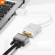 цена на Xiaomi Mijia HDMI To VGA Cable HDMI Splitter 1080p HD Adapters & Converters Office Electronics For PC Laptop Smart TV Xbox PS4