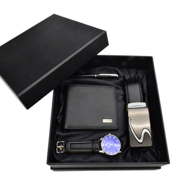 Luxury Set Belt Wallet Pen Men Watches
