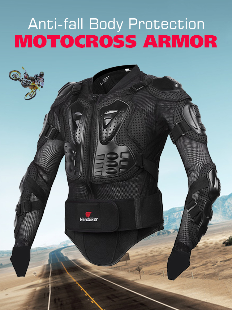 HEROBIKER Motorcycle-Jacket Motorbike-Protection Motocross Riding Men Full-Body Size-S-5xl