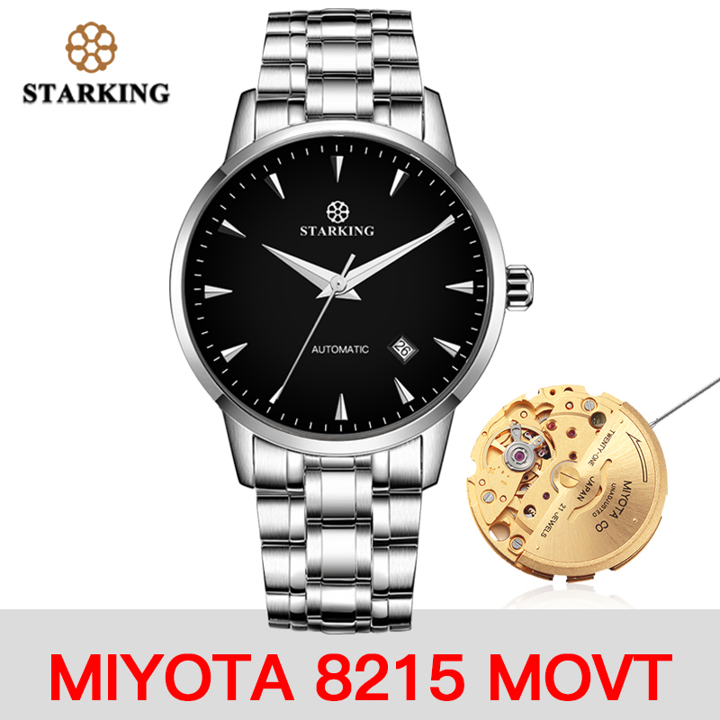 <font><b>STARKING</b></font> Watch AM0171 New Arrival Stainless Steel Japan Movt <font><b>Automatic</b></font> Wristwatches <font><b>Sapphire</b></font> Crystal Men Mechanical Watches image