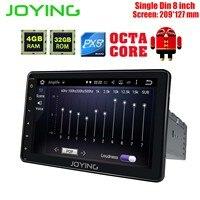 QD JOYING Android 8.0 Car Radio Stereo Single Din 4GB +32GB Universal Head Unit Multimedia Player Support Carplay Video Output