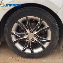 "16"" 17"" RimPrints Wheel Hub Rim 3D Carbon Fiber Decal Stickers For PEUGEOT 508/ Hybrid 2012 2015 Protective Film Car styling"