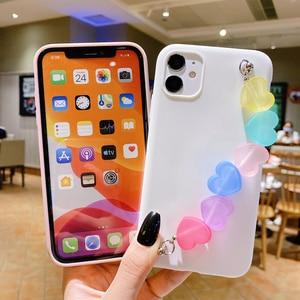 Image 3 - Funda de silicona con correa de TPU para iphone, funda de silicona con arcoíris, Love, para iphone 12 11 Pro XS Max XR X 8 7 6 6S Plus SE 2020