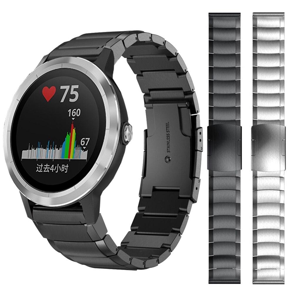 Metal Stainless Steel Strap For Garmin Vivoactive 3 Music Vivomove HR Venu Watch Band For Forerunner 645 245 245M Watchband 20mm