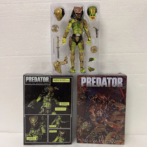 NECA Predator Figure Elder Predator Gold Kenner Leader Clan Chief Action Figure Collection Model Toy Doll
