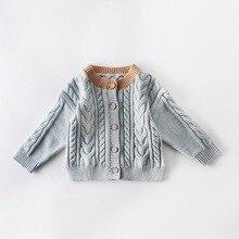 Модный свитер для маленьких девочек Высококачественный однотонный вязаный осенне-зимний свитер милое Мягкое повседневное пальто с круглым вырезом для девочек