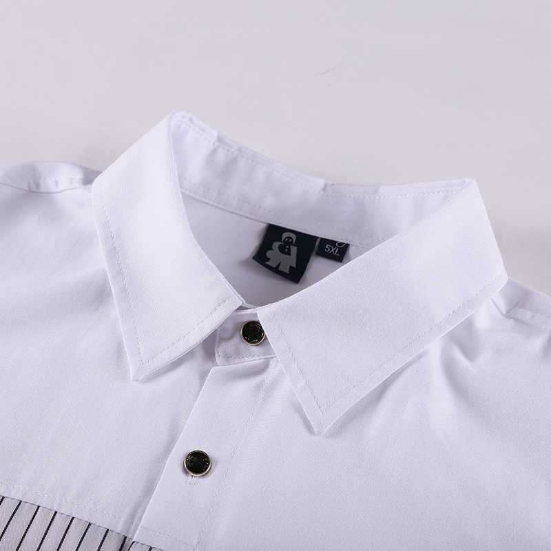 Plus rozmiar 10XL 8XL 6XL 5XL 4XL nowa letnia moda męska koszula dorywczo luźna koszula z krótkim rękawem mężczyzna biała koszulka Homme