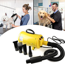 YellowBlack/Blue S19 Frequency Conversion Type Stepless Adjustable Speed Pet hair Force Dryer Dog Grooming Blower With Heater US dog dryer professional portable double motor low noise pet blower dog grooming dryer 700 3200w 220v 110v stepless wind speed