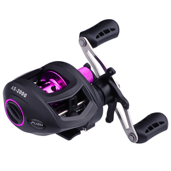 Water Drop Wheel Baitcasting Reel Gear Ratio 7:1:1 Fishing Wheel Fishing Rod Wheel Left Right Hand Spool Bait Casting Reel lumiparty new 12 1bb right left handed fishing baitcasting reel super light fake bait round fishing reel peaca wheel handle