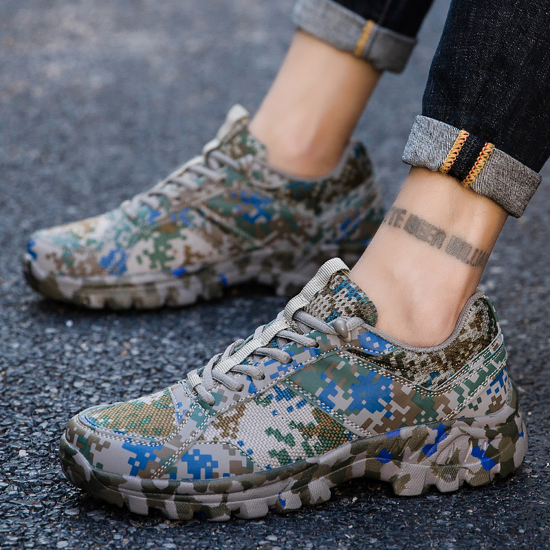 Mesh Camouflage Mens Shoes Casual Breathable Fashion Sneakers For Men Casual Shoes Trainers Zapatos De Hombre  Plus Size 38-46