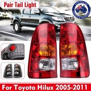 Image 1 - Paar Auto Schwanz Licht Bremsleuchte Blinker Licht Warnung Stop Für Toyota Hilux 2005 2006 2007 2008 2009 2010 2011 auto Zubehör