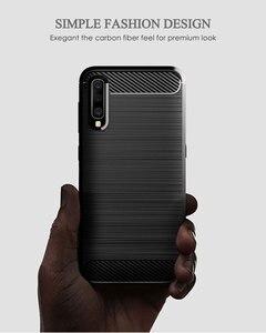Image 3 - Karbon yumuşak silikon telefon kılıfı için Samsung Galaxy A50 A10 A20 A30 A40 A70 M20 M30 M40 Fiber kapak tampon galaxyA50 galaxy 2019