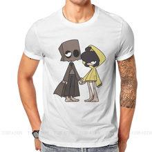 Magliette moda Mono piccoli incubi sei Nomes Runaway Kid gioco uomo stile tessuto Streetwear T Shirt O collo grande formato