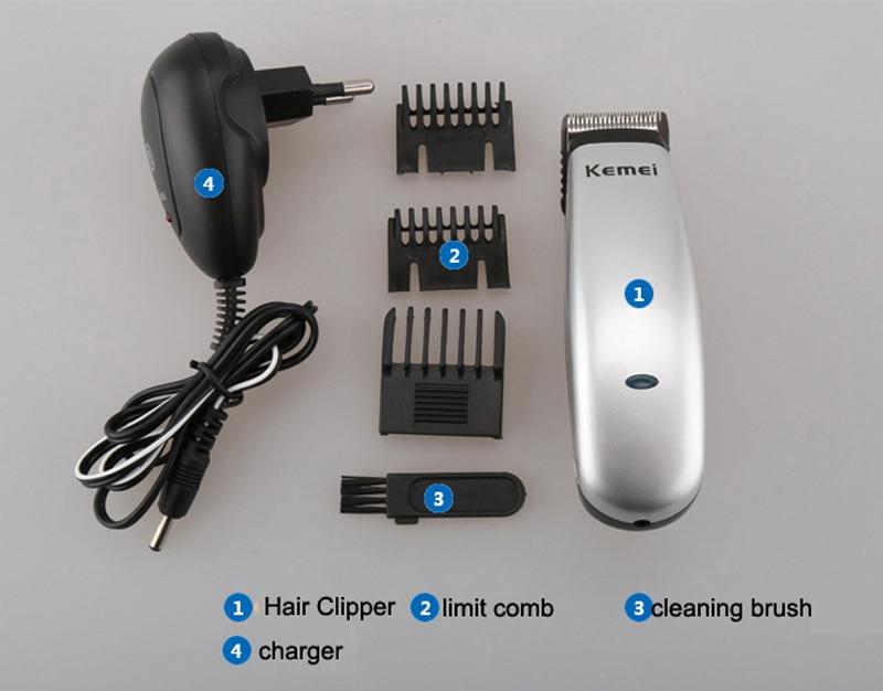 cabelo recarregável barbeiro máquina corte clipper barbeiro