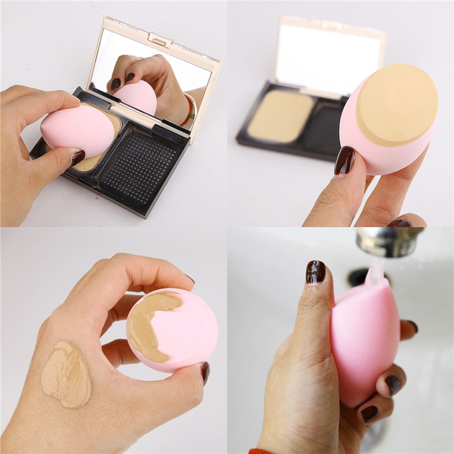19 Colors Makeup Sponge Cosmetic Powder Puff Smooth Women Girls Makeup Foundation Sponge Beauty to Make Up Tools Accessories 5