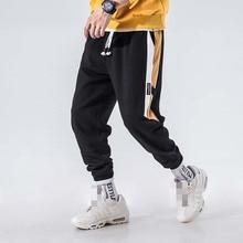 2019 Men winter Side Stripe Casual Sweatpants Color Block Men's Drawstring Sportswear Fitness Joggers Harem Pants Cotton Gyms цена 2017