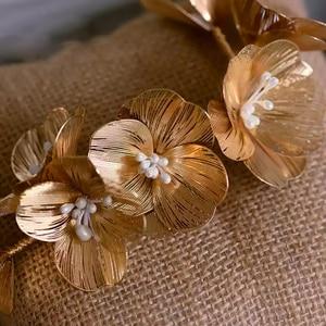 Image 4 - מדהים זהב ריינסטון חתונה סיכות רך כלה Hairbands חתונה אקססורי לשיער לנשף כיסוי ראש