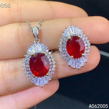 KJJEAXCMY Fine Jewelry 925 sterling silver inlaid natural ruby female ring pendant set vintage supports detection kjjeaxcmy fine jewelry 925 sterling silver inlaid natural opal female ring pendant set classic support detection