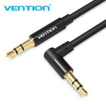 Vention aux cabo 3.5mm jack cabo de áudio 90 graus ângulo direito 3.5 aux cabo para carro iphoneheadphone bate alto-falante mp3/4 aux fio
