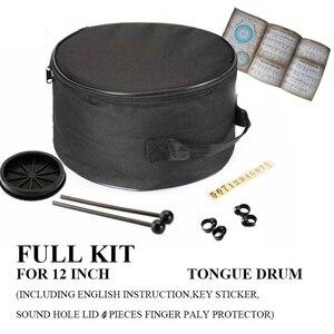 Image 3 - 12 дюймов 11 нот стальной язык барабан музыкальные ударные инструменты ручная сковорода барабанные барабаны клещи ударные