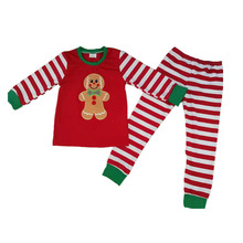 Children Girls Fall clothes girls outfits gingerbread man top with pants pajamas kids boutique clothing