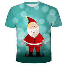 Новинка 2020 Рождественская футболка с мультяшным Санта Клаусом