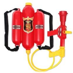 Caçoa o Presente Praia Durável Pistola de Água Squirter Brinquedo Bombeiro Vermelho Crianças de Verão Ao Ar Livre Adereços de Plástico