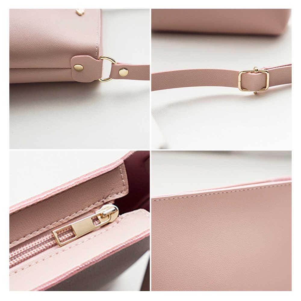 Herald Fashion Wanita Flap Messenger Tas Wanita Kecil Telepon Tas Bahu Kulit PU Genggam Zipper Tas Selempang