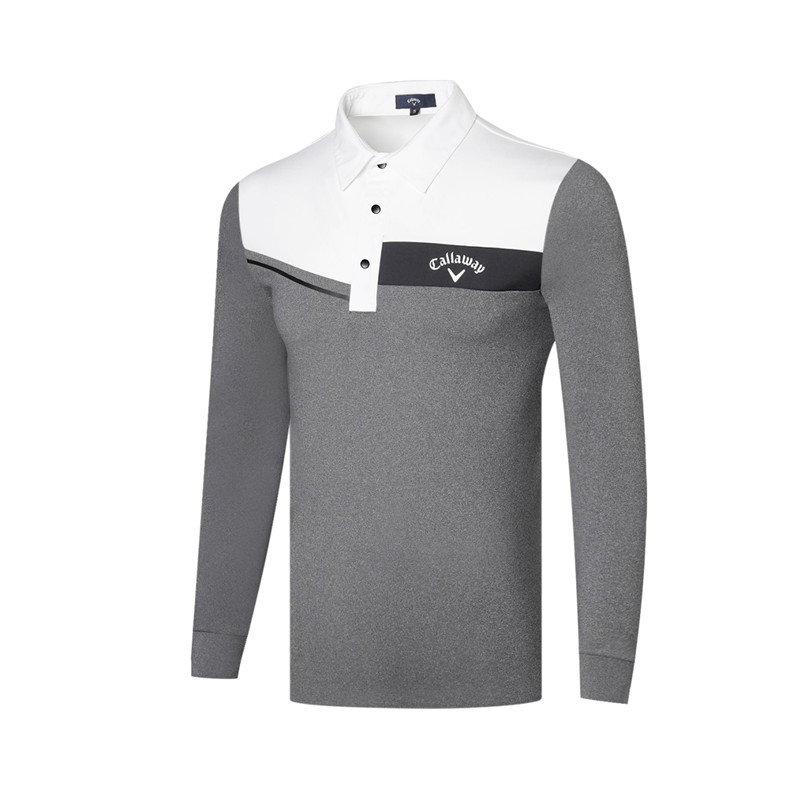 Hot Sale Men's Long-sleeved Golf Wear Spring and Summer Quick-Drying Sweat-Absorbent Outdoor Golf Sports Polo Shirt