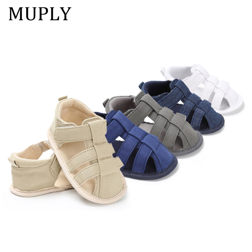 New Baby Infant Kids Soft Sole Canvas Crib Shoes Toddler Newborn Sandals Shoes
