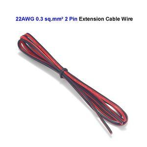 2-контактный провод 22AWG, электрический кабель, луженая медь, удлинитель, Светодиодная лента, соединительный кабель для освещения лампы, свет...