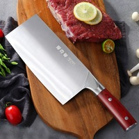 AKM Colour Wood Handle Kitchen Chef Vegetable Knife Cut Bone Slicing Meat Knife Chopper Household Multifunctional Cooking Tool