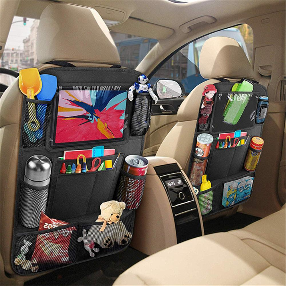 Car Styling Backseat Storage Bag Multi-pocket Car Organizer Tablet Stand Cup Holder Car Storage Hanging Bag Auto Seat Organizer