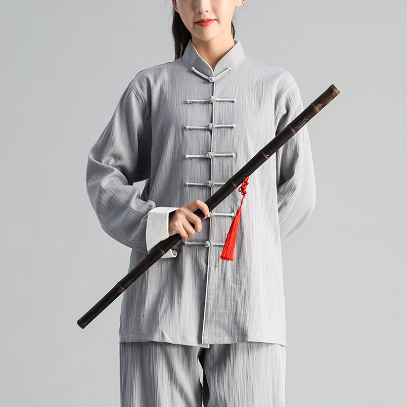 Image 2 - Autumn Winter Men Woman Tai Chi Exercise Clothing Suit Tai Chi  Team Martial Arts Competition Suit Chinese Traditional ClothingSets
