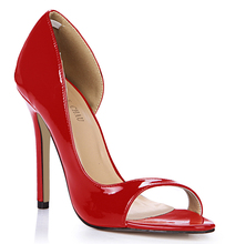 Summer Spring New 12cm High Heel Pumps Patent Fashion Women Stiletto Thin heel Peep Toe Sexy Party Dress Lady Shoes 3C-Q1 gorgeous women patent leather cut out pumps design charming dress super high heel shoes sexy ladies party peep toe dress shoes