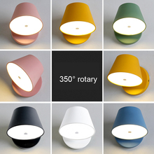 Nordic modern bedside bedroom living room aisle corridor hotel wall light LED study stair lamp sonce bra