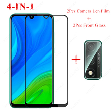 2PCS For Huawei P Smart 2020 Glass for Huawei Y6S Y9S Y5 Y6 Y7 Y7P Y9 Prime 2019 Tempered Glass Screen Protector Camera Len Film 9d glass for huawei y7 y9 2018 protective glass for huawei y9 2019 y9 prime y7 prime 2019 jkm lx1 p smart z screen cover film