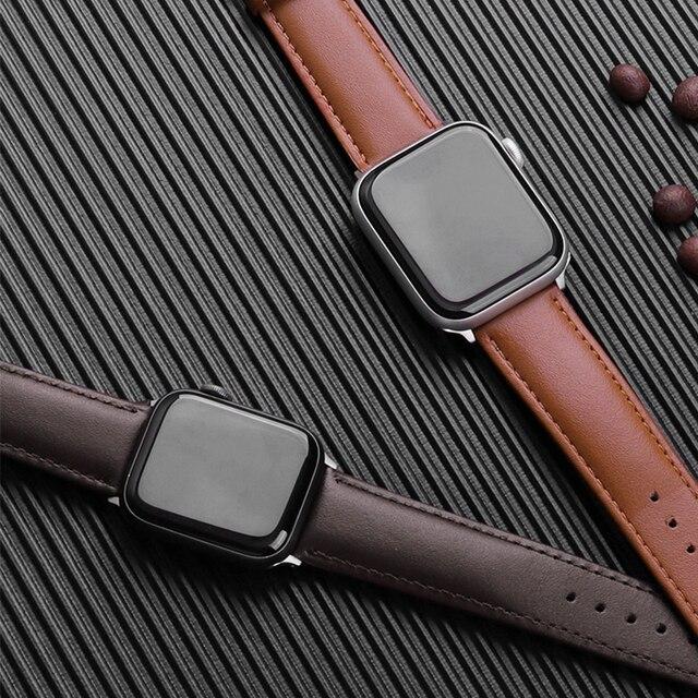 Кожаный браслет для часов, 38-44 мм 1