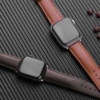 Correa de cuero marrón para Apple Watch, correa de cuero para Apple Watch 6 SE 5 4 3 2 1 38mm 40mm, para Iwatch 5 44mm 42mm